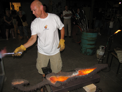 Bryan working at the Flame Run studio